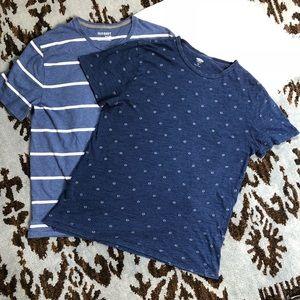 💰Old Navy Men's Blue T-shirt Bundle Large